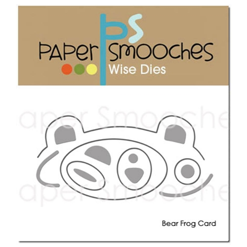 Paper Smooches BEAR FROG CARD Wise Dies M1D371* Preview Image