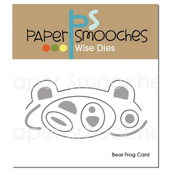 Paper Smooches BEAR FROG CARD Wise Dies M1D371*