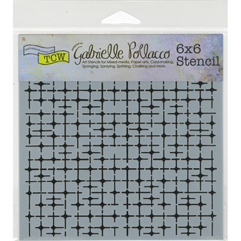 The Crafter's Workshop SMALL TILE MANIA 6x6 Template TCW662S