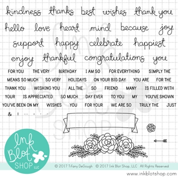 Ink Blot Shop Clear Stamp Set KINDNESS AND THANKS INBL013*
