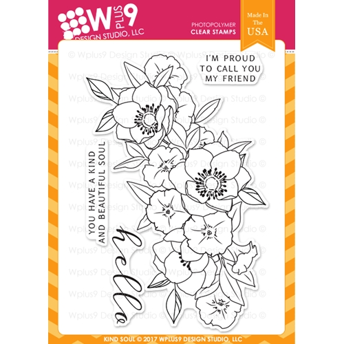 Wplus9 KIND SOUL Clear Stamps CLWP9KS Preview Image