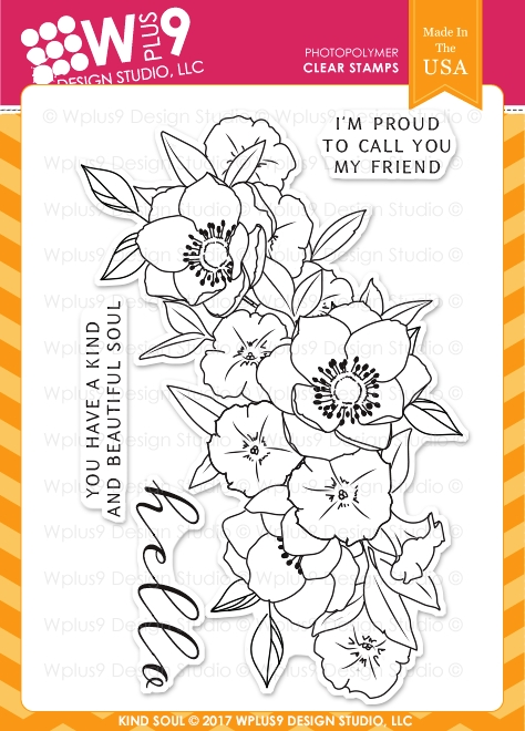 Wplus9 KIND SOUL Clear Stamps CLWP9KS zoom image