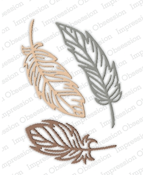 Impression Obsession Steel Dies FEATHERS DIE510-W Preview Image