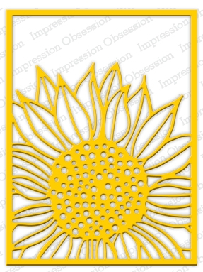Impression Obsession Steel Dies SUNFLOWER BACKGROUND DIE515-YY Preview Image