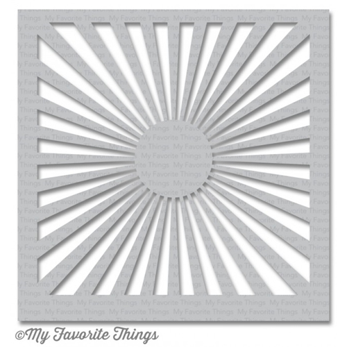 My Favorite Things RADIATING RAYS Mixable Stencil MFT ST98 Preview Image