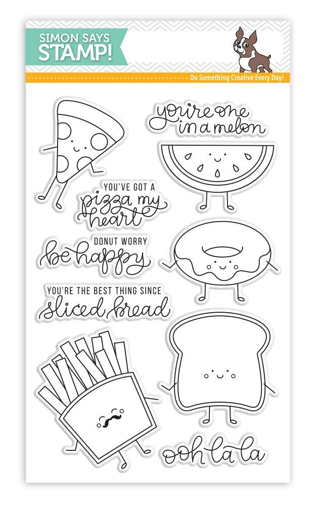 Simon Says Clear Stamps FUNNY FOOD SSS101699 New Beginnings * zoom image