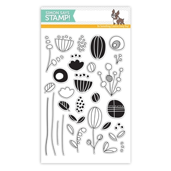 Simon Says Clear Stamps ARTSY FLOWER PARTS SSS101701 New Beginnings *
