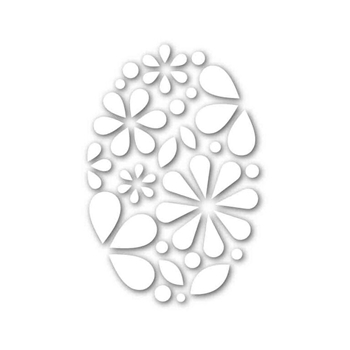 Simon Says Stamp OVAL OF FLOWERS Wafer Dies SSSD111698 New Beginnings