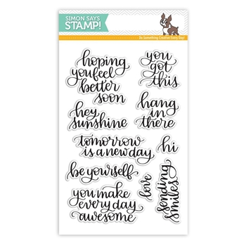 Simon Says Clear Stamps HANDLETTERED ENCOURAGEMENT SSS101705 New Beginnings