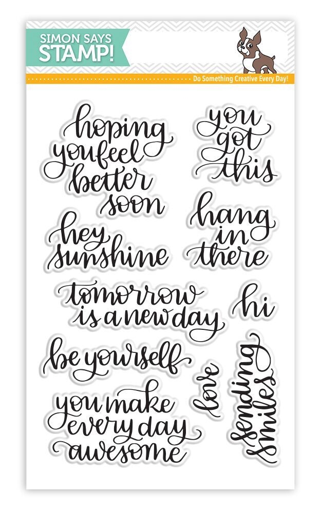 Simon Says Clear Stamps HANDLETTERED ENCOURAGEMENT SSS101705 New Beginnings zoom image