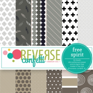 Reverse Confetti FREE SPIRIT 6x6 Inch Paper Pad Preview Image