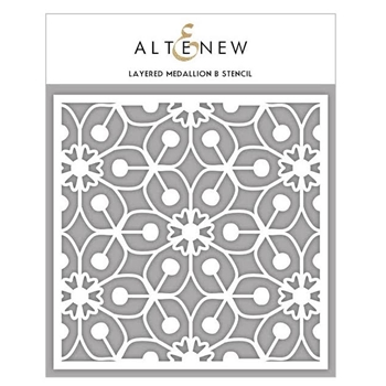 Altenew LAYERED MEDALLION B Stencil ALT1629
