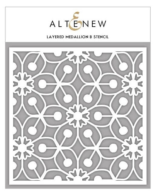Altenew LAYERED MEDALLION B Stencil ALT1629 zoom image
