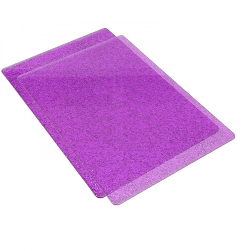 Sizzix PURPLE WITH SILVER GLITTER Standard Cutting Pads Pair 662142 Preview Image