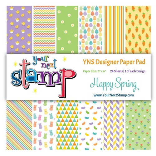 Your Next Stamp HAPPY SPRING 6X6 Paper Pack YNSPP010* Preview Image