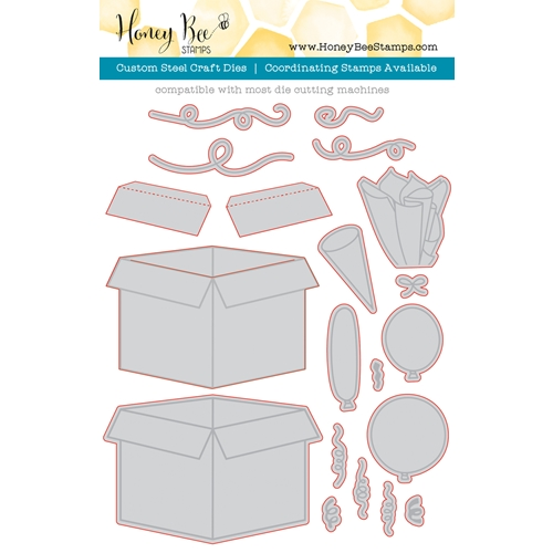 Honey Bee CELEBRATION BOX Dies HBDS-045* Preview Image