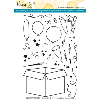 Honey Bee CELEBRATION BOX Clear Stamp Set HBST-045