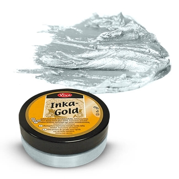 Viva Decor ICE BLUE Inka Gold Beeswax Polish 2.2oz 612474*