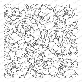 Impression Obsession Cling Stamp LAYERED ROSES Create A Card CC283 Preview Image