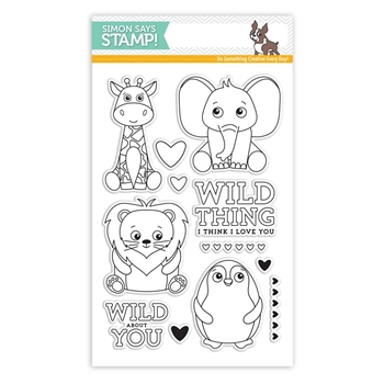 Simon Says Clear Stamps WILD CUDDLY CRITTERS SSS101704 *