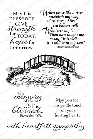 Impression Obsession Clear Stamp BRIDGE SET CL712 Preview Image