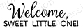Impression Obsession Cling Stamp WELCOME SWEET A13512 Preview Image