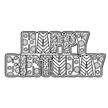 Stamplistic Cling Stamp HAPPY BIRTHDAY Rubber UM J170106