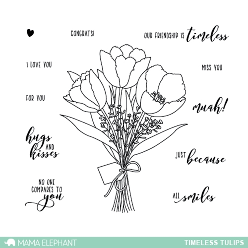 Mama Elephant Clear Stamps TIMELESS TULIPS* Preview Image