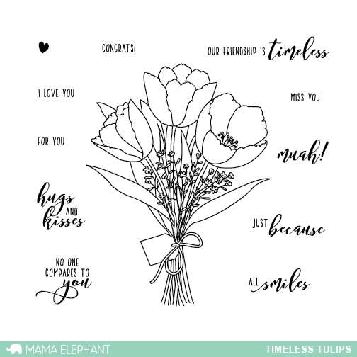 Mama Elephant Clear Stamps TIMELESS TULIPS* zoom image