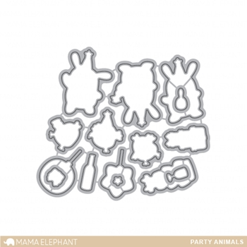 Mama Elephant PARTY ANIMALS DIE Creative Cuts Steel Die