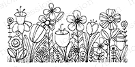 Impression Obsession Cling Stamp JOY'S FLOWER FIELD C19439 Preview Image