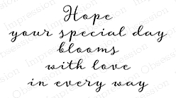 Impression Obsession Cling Stamp BLOOMS WITH LOVE D20240 Preview Image