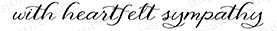 Impression Obsession Cling Stamp HEARTFELT SYMPATHY C13521 Preview Image