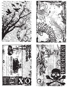 Tim Holtz Cling Rubber Stamps ORNATE COLLAGES CMS040  zoom image