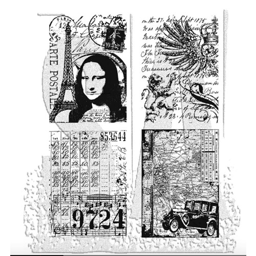 Tim Holtz Cling Rubber Stamps ARTISTIC COLLAGES CMS043 Preview Image