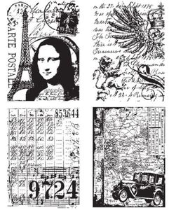 Tim Holtz Cling Rubber Stamps ARTISTIC COLLAGES CMS043 zoom image