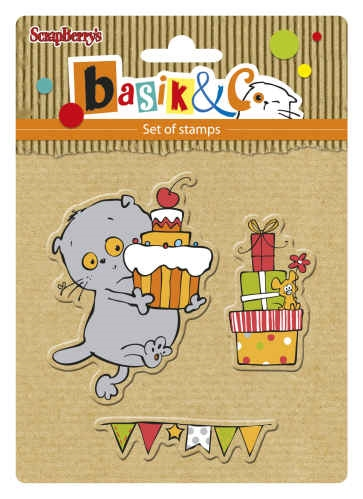 ScrapBerry's PARTY 2 Basiks New Adventure Clear Stamps SCB4907036 Preview Image