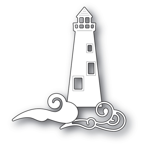 Memory Box OCEANSIDE LIGHTHOUSE AND WAVES Craft Die 99736 Preview Image