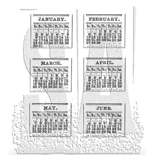 Tim Holtz Cling Rubber Stamps CALENDAR 1 One CMS034  Preview Image