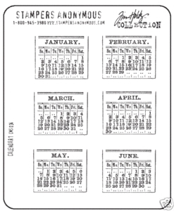 Tim Holtz Cling Rubber Stamps CALENDAR 1 One CMS034