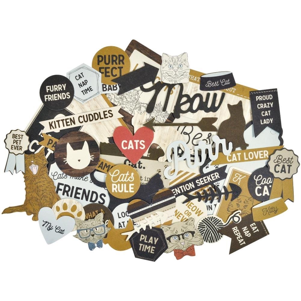 Kaisercraft PAWFECT CAT Collectables Die Cut Shapes CT877 zoom image