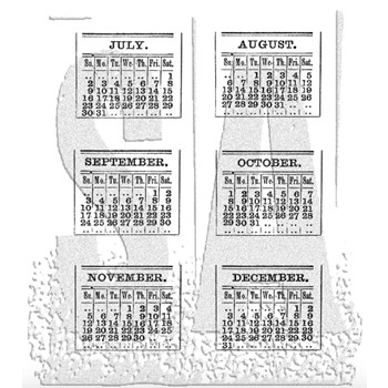Tim Holtz Cling Rubber Stamps CALENDAR 2 Two CMS035