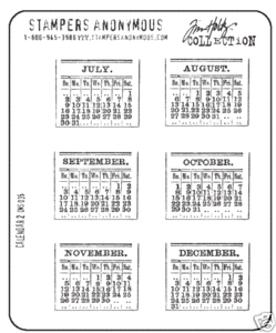 Tim Holtz Cling Rubber Stamps CALENDAR 2 Two CMS035 zoom image
