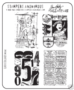 Tim Holtz Cling Rubber Stamps CLASSIC COLLAGES CMS041  Preview Image