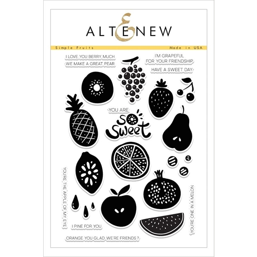Altenew SIMPLE FRUITS Clear Stamp Set ALT1609* Preview Image