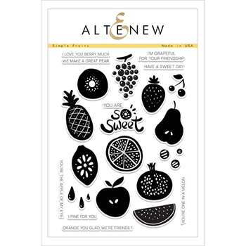 Altenew SIMPLE FRUITS Clear Stamp Set ALT1609*