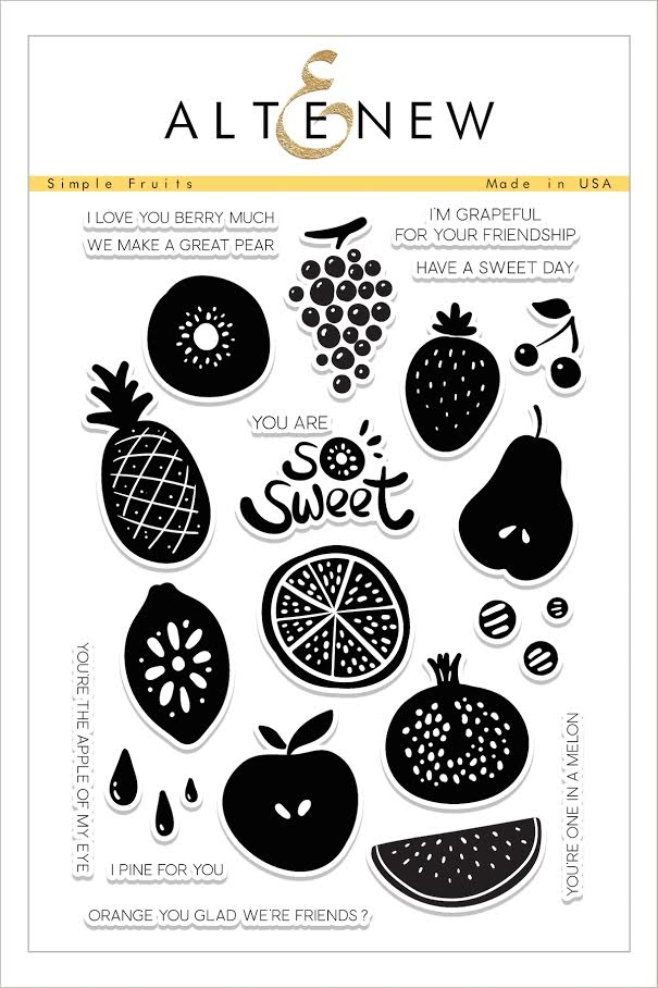 Altenew SIMPLE FRUITS Clear Stamp Set ALT1609* zoom image