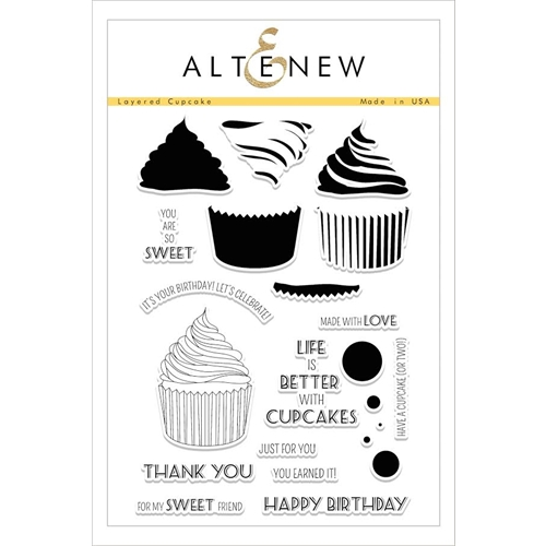 Altenew LAYERED CUPCAKE Clear Stamp Set ALT1606 Preview Image