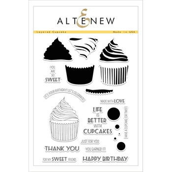 Altenew LAYERED CUPCAKE Clear Stamp Set ALT1606