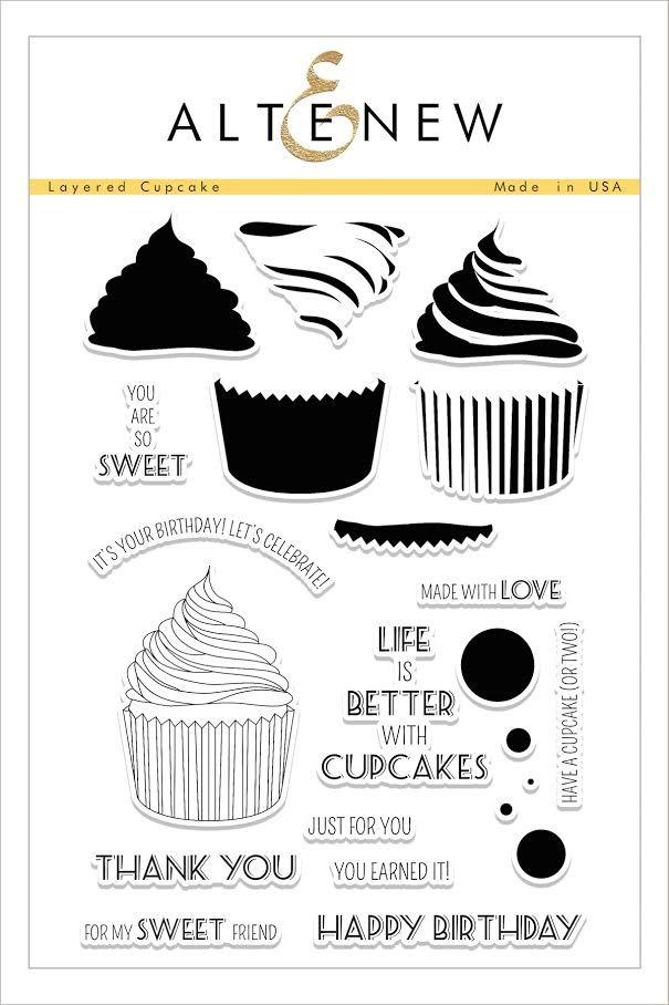 Altenew LAYERED CUPCAKE Clear Stamp Set ALT1606 zoom image